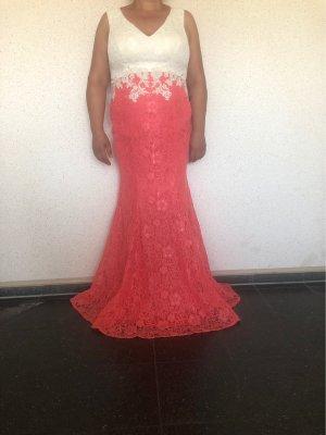Butik Evening Dress white-bright red