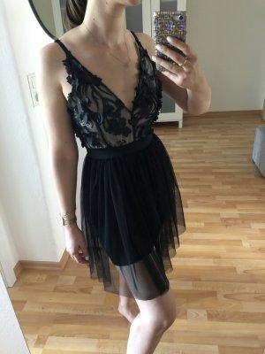 Robe de soirée noir polyester