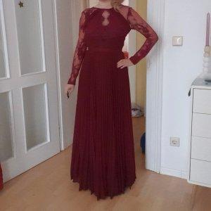 Asos Robe de soirée bordeau-rouge mûre tissu mixte