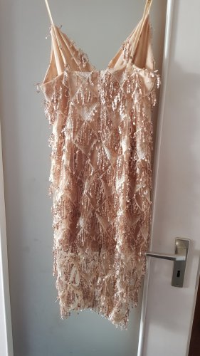Robe à paillettes bronze-doré