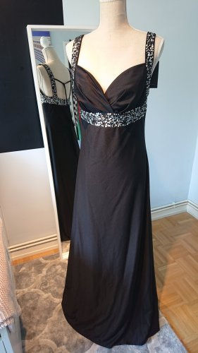 Abendrobe Ballkleid Festkleid lang schwarz 40 L Laura Scott