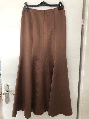 Falda de seda color bronce
