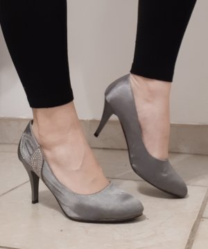 Belle Women High Heels silver-colored