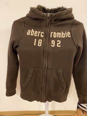 Abercrombie & Fitch Maglione con cappuccio marrone-nero
