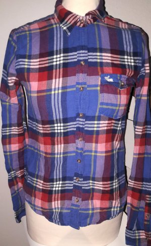 Abercombie Karo-Hemd Royal Blue