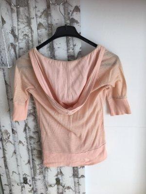 Abercrombie & Fitch Top à capuche abricot coton