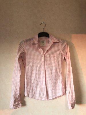 Abercrombie & Fitch Flanellen hemd wit-roze
