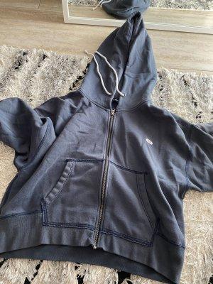 Abercrombie and Fitch kurzer oversized Sweater Jacke Hoodie blau L