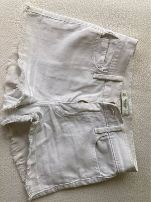 Abercrombie & Fitch High-Waist-Shorts white