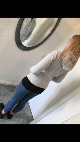 Abercrombie & Fitch Felpa con cappuccio grigio chiaro