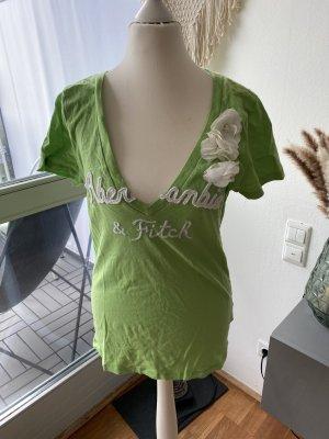 Abercrombie & Fitch V-hals shirt weidegroen