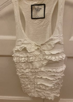 Abercrombie & Fitch Top met franjes wit