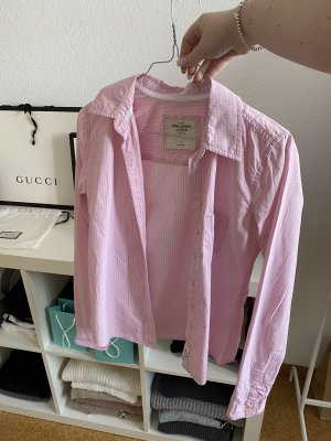 Abercrombie & Fitch Blouse-chemisier rose clair-blanc