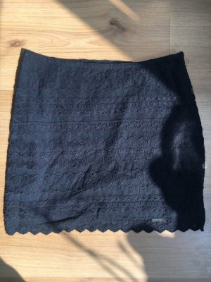 Abercrombie & Fitch Lace Skirt dark blue-blue