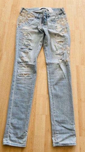 Abercrombie & Fitch Jeans boyfriend beige clair-bleu