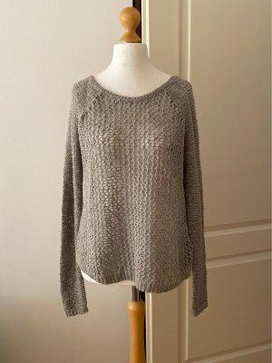 Abercrombie & Fitch Maglione lavorato a maglia grigio chiaro