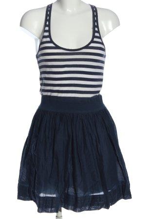 Abercrombie & Fitch A-Linien Kleid weiß-blau Streifenmuster Casual-Look
