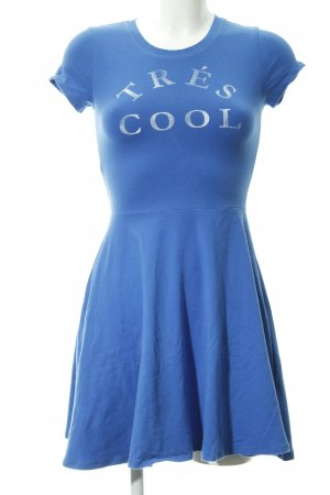 Abercrombie & Fitch A-Linien Kleid stahlblau-wollweiß Casual-Look