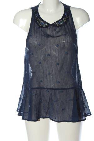 Abercrombie & Fitch Mouwloze blouse blauw glitter-achtig