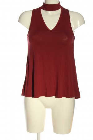 Abercrombie & Fitch ärmellose Bluse rot Casual-Look