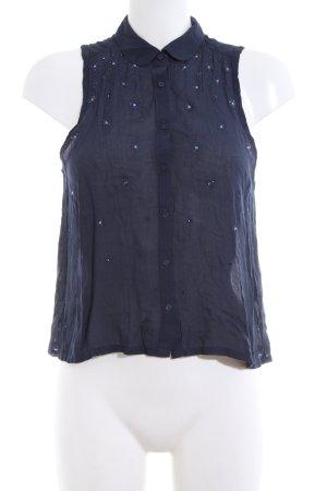 Abercrombie & Fitch ärmellose Bluse blau Casual-Look
