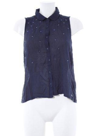 Abercrombie & Fitch ärmellose Bluse dunkelblau Casual-Look