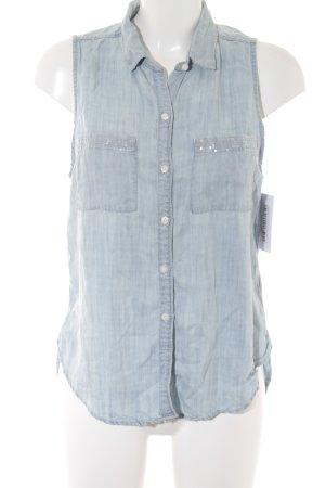 Abercrombie & Fitch ärmellose Bluse hellblau Casual-Look