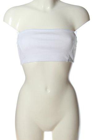 Abercrombie & Fitch Top z dekoltem typu bandeau biały W stylu casual