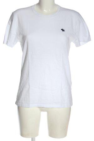 Abercrombie & Fitch Shirt basique blanc style décontracté