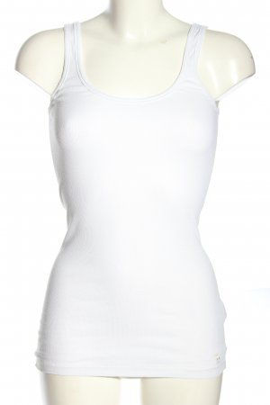 Abercrombie & Fitch Top básico blanco look casual
