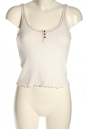 Abercrombie & Fitch Basic Top wollweiß-braun Casual-Look