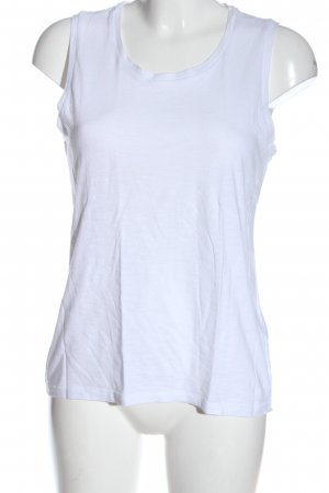 Abercrombie & Fitch Top basic bianco stile casual