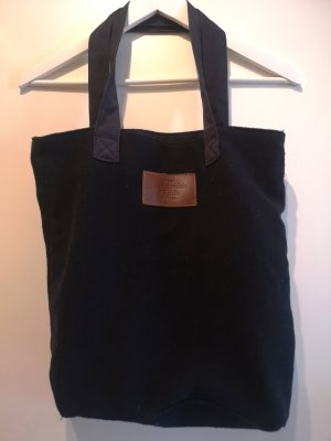 Abercrombie & Fitch Burlap Bag dark blue cotton