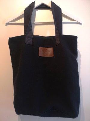 ABERCROMBIE & FITCH Baumwoll-Tote Tasche in dunkelblau