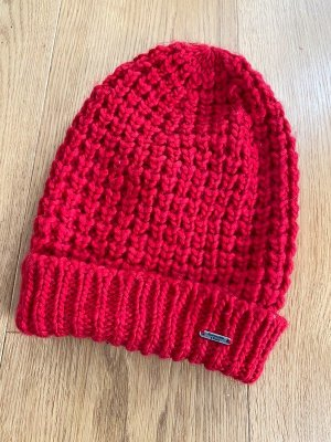 Abercrombie & Fitch Beanie red mixture fibre