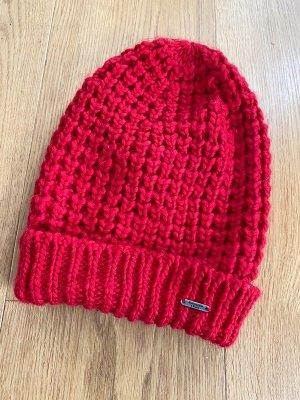 Abercrombie & Fitch Bonnet rouge tissu mixte