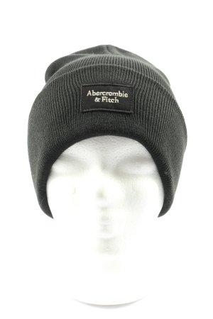 Abercrombie & Fitch Gorro negro punto trenzado look casual