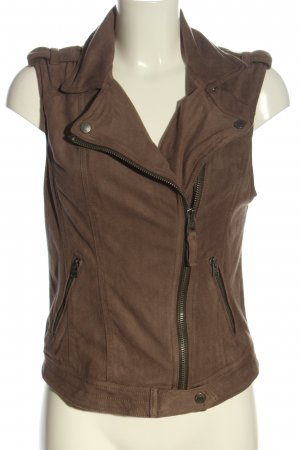 Abercrombie & Fitch Biker Vest brown casual look