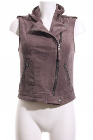 Abercrombie & Fitch Biker Vest light brown Metal elements
