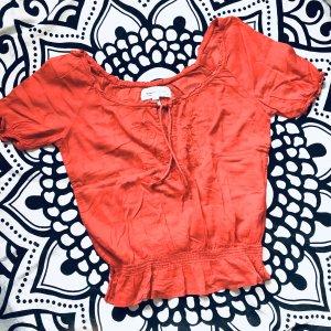 Abercrombie & Fitch Koszula typu carmen jasnoczerwony-łosowiowy