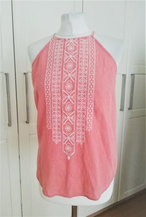 Abercrombie & Fitch Sleeveless Blouse pink-white