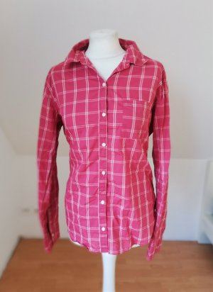 Abercrombie & Fitch Bluse Pink Weiß Karo