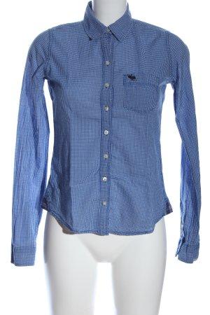 Abercrombie & Fitch Kołnierzyk koszulowy niebieski Na całej powierzchni