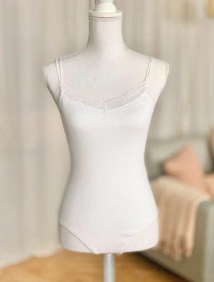 Abercrombie & Fitch Body A&F weiß Spitze Baumwolle S