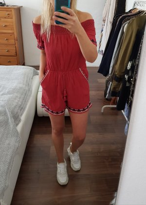 Abercrombie & Fitch Boho Sommer Jumpsuit rot Gr. XS