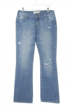Abercrombie & Fitch Boot Cut Jeans stahlblau Casual-Look