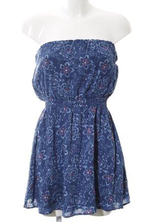 Abercrombie & Fitch Sukienka gorsetowa niebieski Na całej powierzchni