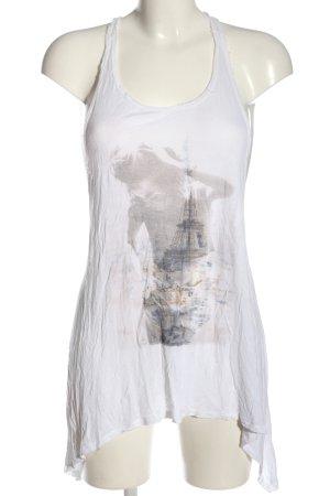 Abercrombie & Fitch Camisola blanco estampado temático look casual