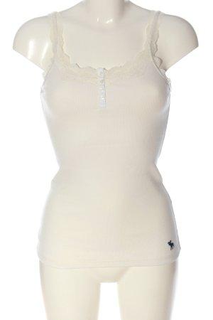 Abercrombie & Fitch Camisole blanc cassé motif rayé style décontracté