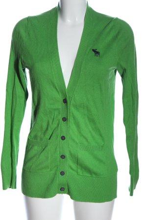 Abercrombie & Fitch Cardigan grün Casual-Look